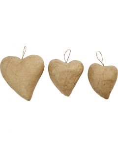 Hearts, H: 6+8+10 cm, 6 pc/ 1 pack