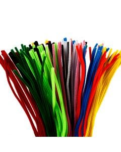 Pipe Cleaners, L: 45 cm, thickness 6 mm, assorted colours, 200 pc/ 1 pack