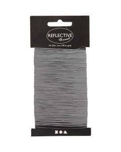 Reflective thread, W: 0,8-1 mm, grey, 100 m/ 1 pack