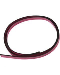 Faux Leather Belt, W: 10 mm, thickness 3 mm, pink, 1 m/ 1 pack