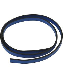 Faux Leather Belt, W: 10 mm, thickness 3 mm, blue, 1 m/ 1 pack