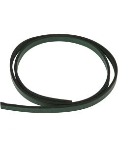 Faux Leather Belt, W: 10 mm, thickness 3 mm, green, 1 m/ 1 pack
