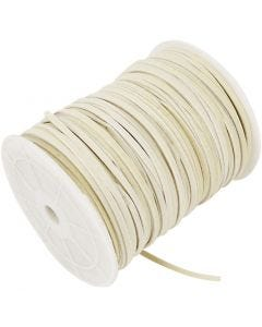 Faux suede cord, thickness 3 mm, beige, 100 m/ 1 roll