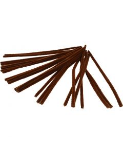 Pipe Cleaners, L: 30 cm, thickness 9 mm, brown, 25 pc/ 1 pack