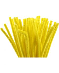 Pipe Cleaners, L: 30 cm, thickness 6 mm, yellow, 50 pc/ 1 pack