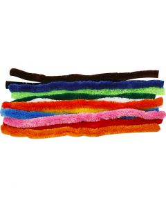Pipe Cleaners, L: 45 cm, thickness 25 mm, assorted colours, 60 asstd./ 1 pack