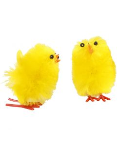 Easter Chicks, H: 30 mm, yellow, 12 pc/ 1 pack