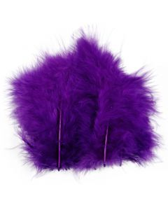 Feathers, size 5-12 cm, purple, 15 pc/ 1 pack