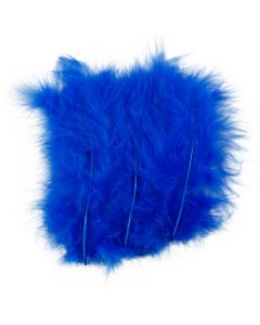 Feathers, size 5-12 cm, blue, 15 pc/ 1 pack
