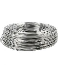 Aluminium Wire, round, thickness 2 mm, silver, 100 m/ 1 roll