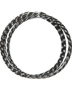 Aluminium Wire, diamond-cut, thickness 2 mm, black, 7 m/ 1 roll
