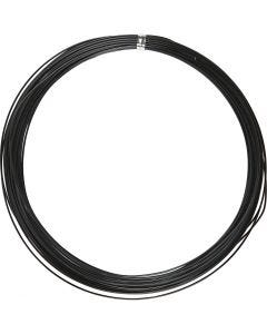 Aluminium Wire, round, thickness 1 mm, black, 16 m/ 1 roll