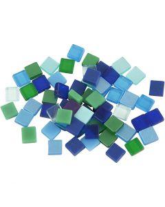 Mini Mosaic, size 5x5 mm, blue/green harmony, 25 g/ 1 pack