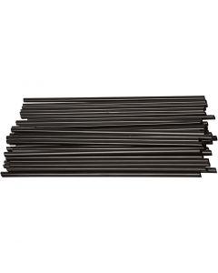 Construction Straw, L: 12,5 cm, D: 3 mm, black, 800 pc/ 1 pack