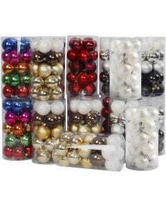 Christmas Ornaments, D: 6 cm, 24x20 pc/ 1 pack