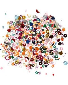 Sequin Sprinkle, size 2-5 mm, 170 g/ 1 pack