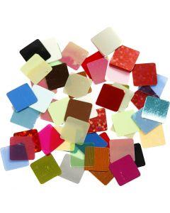 Foil Mosaic Tiles, size 10x10 mm, assorted colours, 10 g/ 1 pack