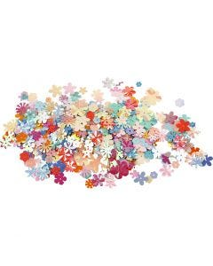 Sequins, D: 5-20 mm, assorted colours, 250 g/ 1 pack