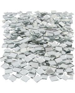 Mirror Mosaic Tiles, size 10x10 mm, 500 pc/ 1 pack