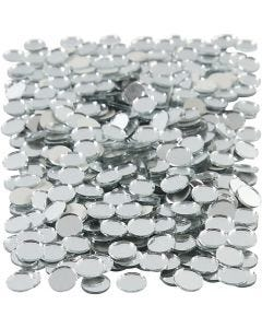 Mirror Mosaic Tiles, round, D: 10 mm, 500 pc/ 1 pack