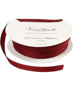 Decoration Ribbon, W: 6 mm, red, 15 m/ 1 roll