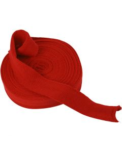 Knitted Tube, W: 40 mm, christmas red, 10 m/ 1 roll