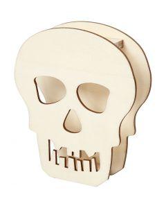 Skull, H: 13,5 cm, depth 3 cm, W: 11,5 cm, 1 pc