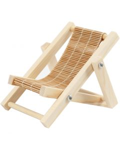 Deck chair, L: 9,5 cm, W: 7,5 cm, 1 pc