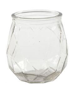 Tea Light Candle Holder, H: 10,5 cm, D: 9,5 cm, hole size 7,3 cm, 6 pc/ 1 box