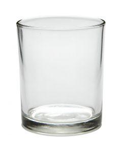 Tealight holder in glass, H: 8,4 cm, D: 7 cm, 240 ml, 12 pc/ 1 box