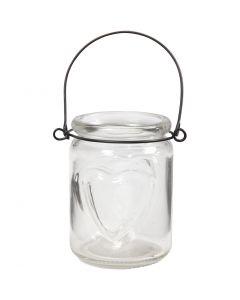 Lantern, H: 9,5 cm, D: 6,5 cm, 12 pc/ 1 box