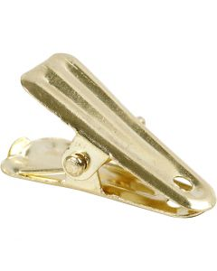 Decorative pegs, L: 27 mm, W: 14 mm, gold, 10 pc/ 1 pack