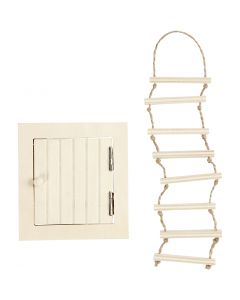 Attic Access Door and rope ladder, size 9-20 cm, 1 set