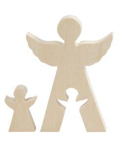 2in1 Figure, angels, H: 7,8+20 cm, W: 4,5+14,3 cm, 1 set
