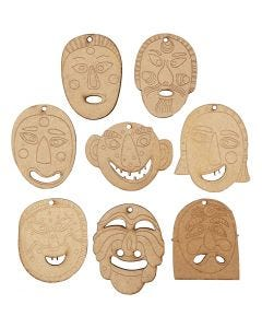 Masks for hanging, size 5,5-7 cm, thickness 4 mm, 24 pc/ 1 pack