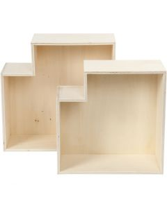 Storage Boxes, H: 27+31 cm, depth 12,5 cm, 2 pc/ 1 set