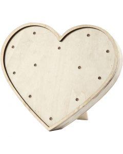 Heart Light Box, H: 21 cm, W: 23,5 cm, 1 pc