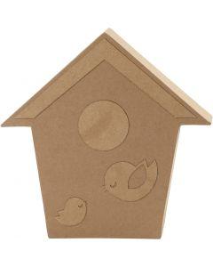 Bird House, H: 18 cm, 1 pc