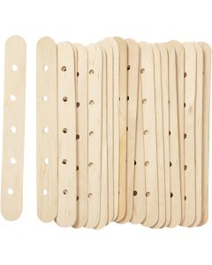 Sticks with holes, L: 15 cm, W: 1,8 cm, hole size 4 mm, 20 pc/ 1 pack