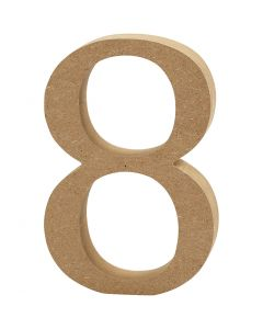 Number, 8, H: 13 cm, thickness 2 cm, 1 pc