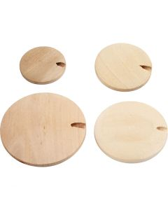 Wood Button pearl, D: 20-35 mm, 320 pc/ 1 pack