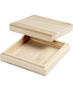 Box, H: 3 cm, size 10x10 cm, 1 pc