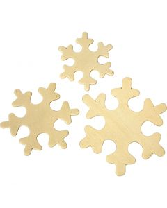 Snowflake, size 4+5+6 cm, 3x20 pc/ 1 pack
