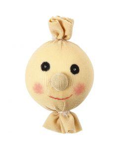 Stuffed and Tied Head, D: 35 mm, light beige, 1 pc