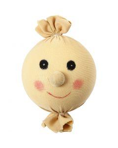 Stuffed and Tied Head, D: 55 mm, light beige, 1 pc