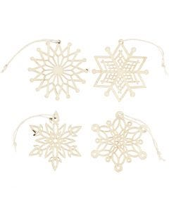 Ornaments, D: 7 cm, thickness 0,3 mm, 8 pc/ 1 pack
