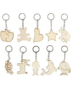 Key Hanger, size 5,5x5,5 cm, thickness 2 mm, 30 pc/ 1 pack