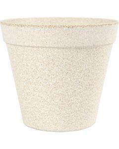 Flower pot, H: 13,5 cm, D: 15,2 cm, 1 pc
