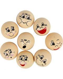 Heads, D: 20 mm, light beige, 16 pc/ 1 pack