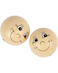 Heads, D: 40 mm, light beige, 10 pc/ 1 pack